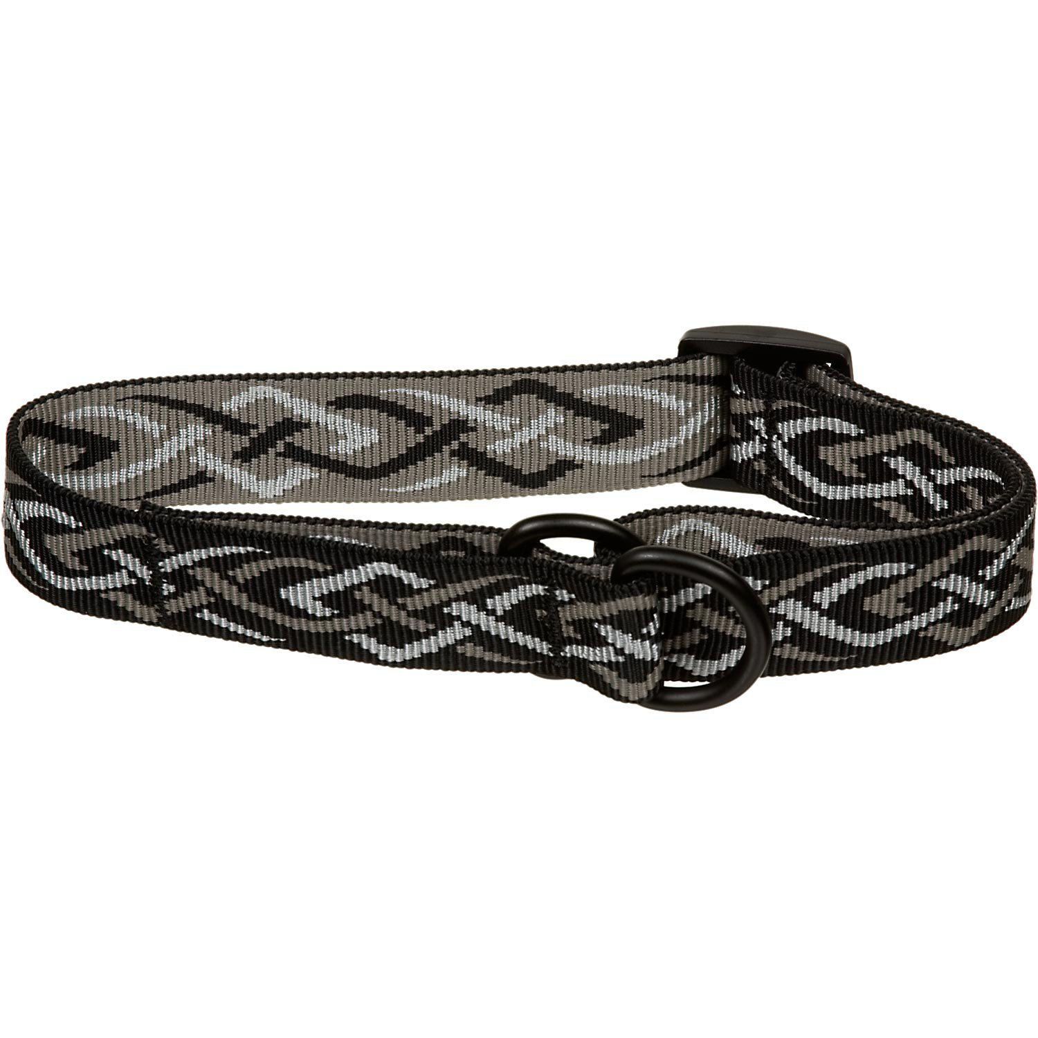 Bison Pet Black Thorn Adjustable Nylon Dog Slip Collar