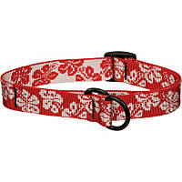 Bison Pet Red Hawaiian Adjustable Nylon Dog Slip Collar