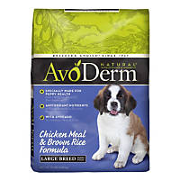 AvoDerm Natural Large Breed Puppy Chicken Meal & Brown Rice Formula Dry Puppy Food