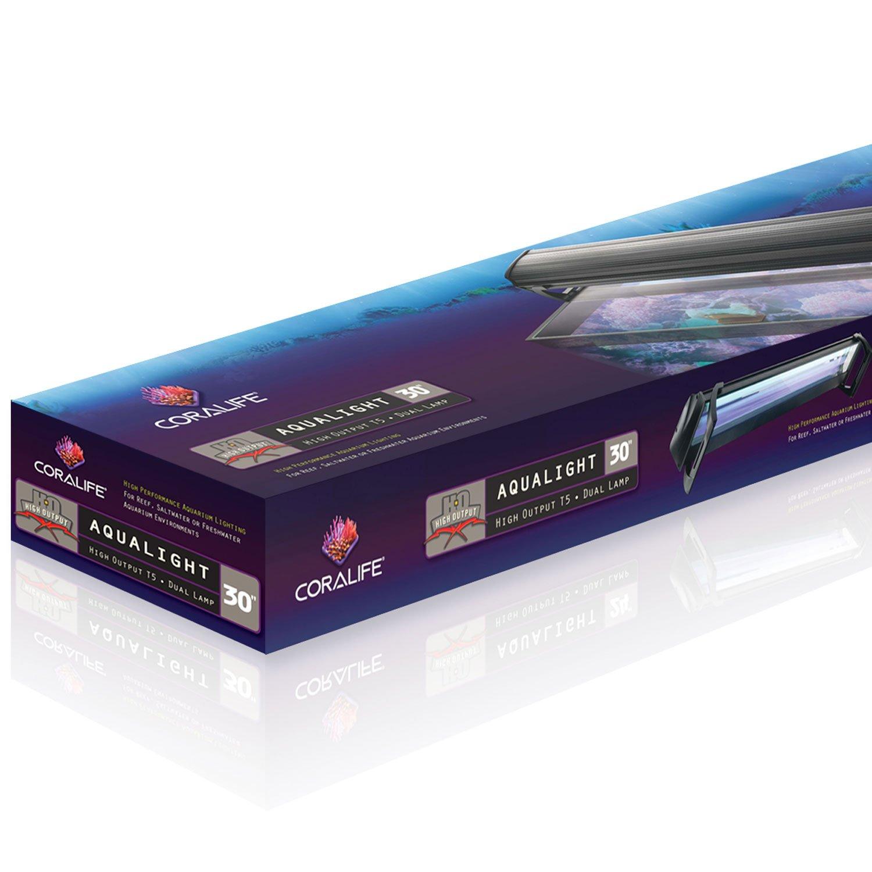 """Coralife Dual Fixture High Output T5 Aquarium Light Fixture, 30"""" Length"""