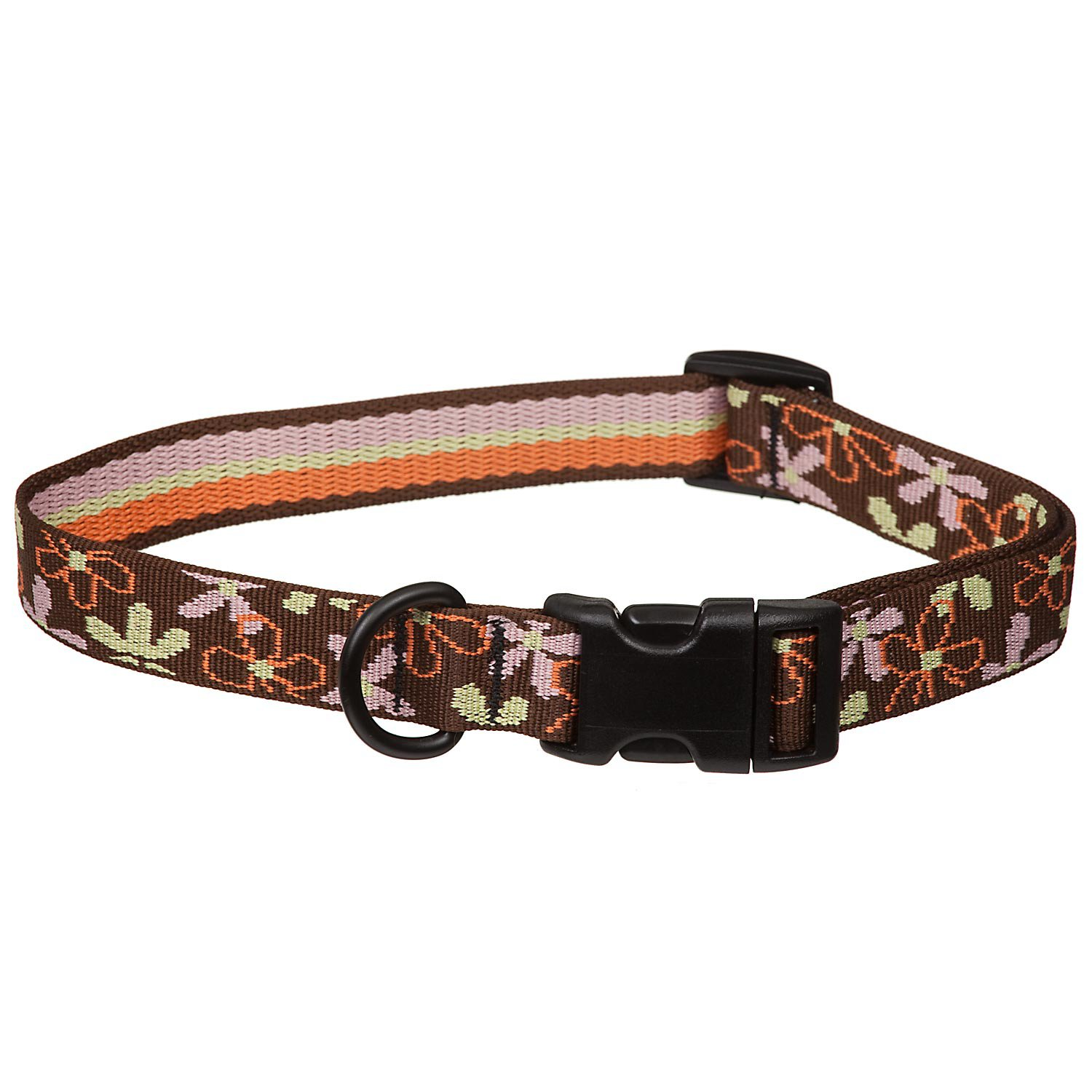 Bison Pet Eco Brown Flower Dog Collar