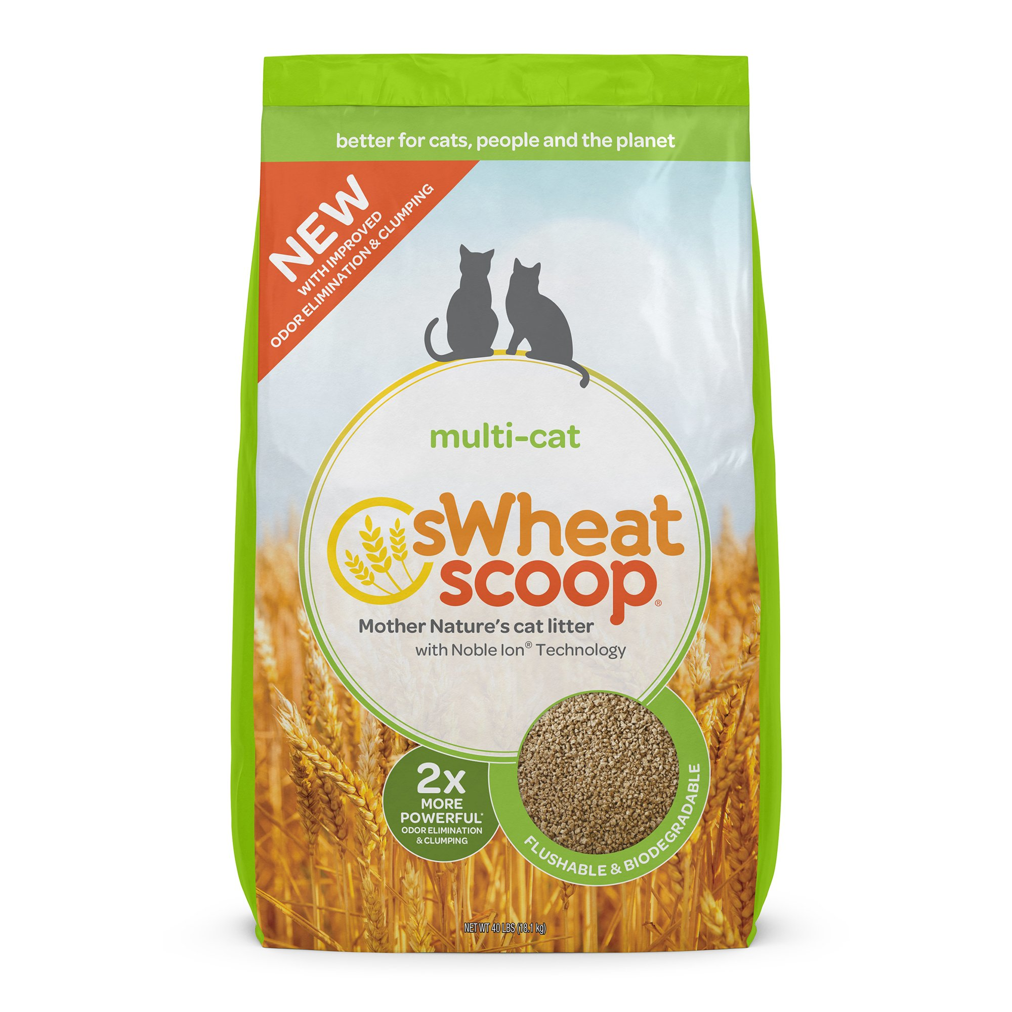 sWheat Scoop Scoopable Cat Litter Multi-Cat Strength