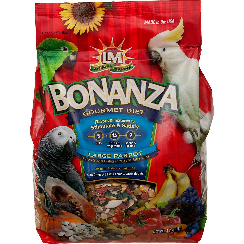 LM Animal Farms Bonanza Gourmet Diet Large Parrot Bird Food