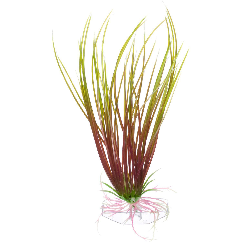 Petco Green & Red Hairgrass Foreground Plastic Aquarium Plant