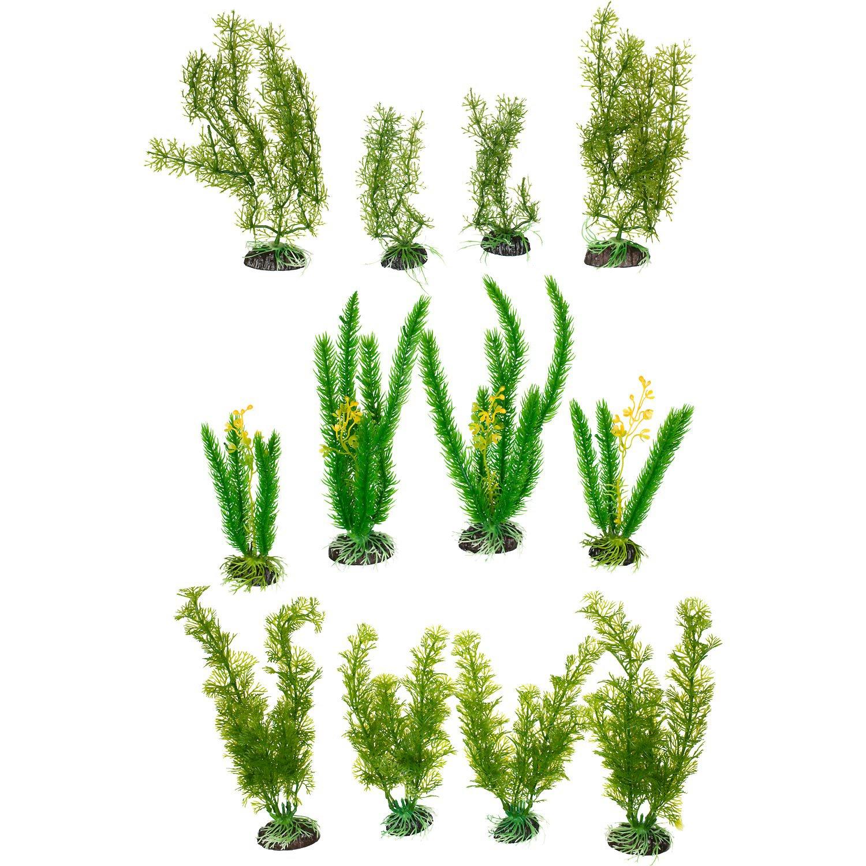 Petco Green Plastic Aquarium Plant Variety Pack