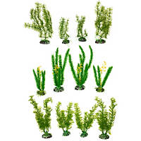 Petco Green Plastic Aquarium Plant Variety Pack