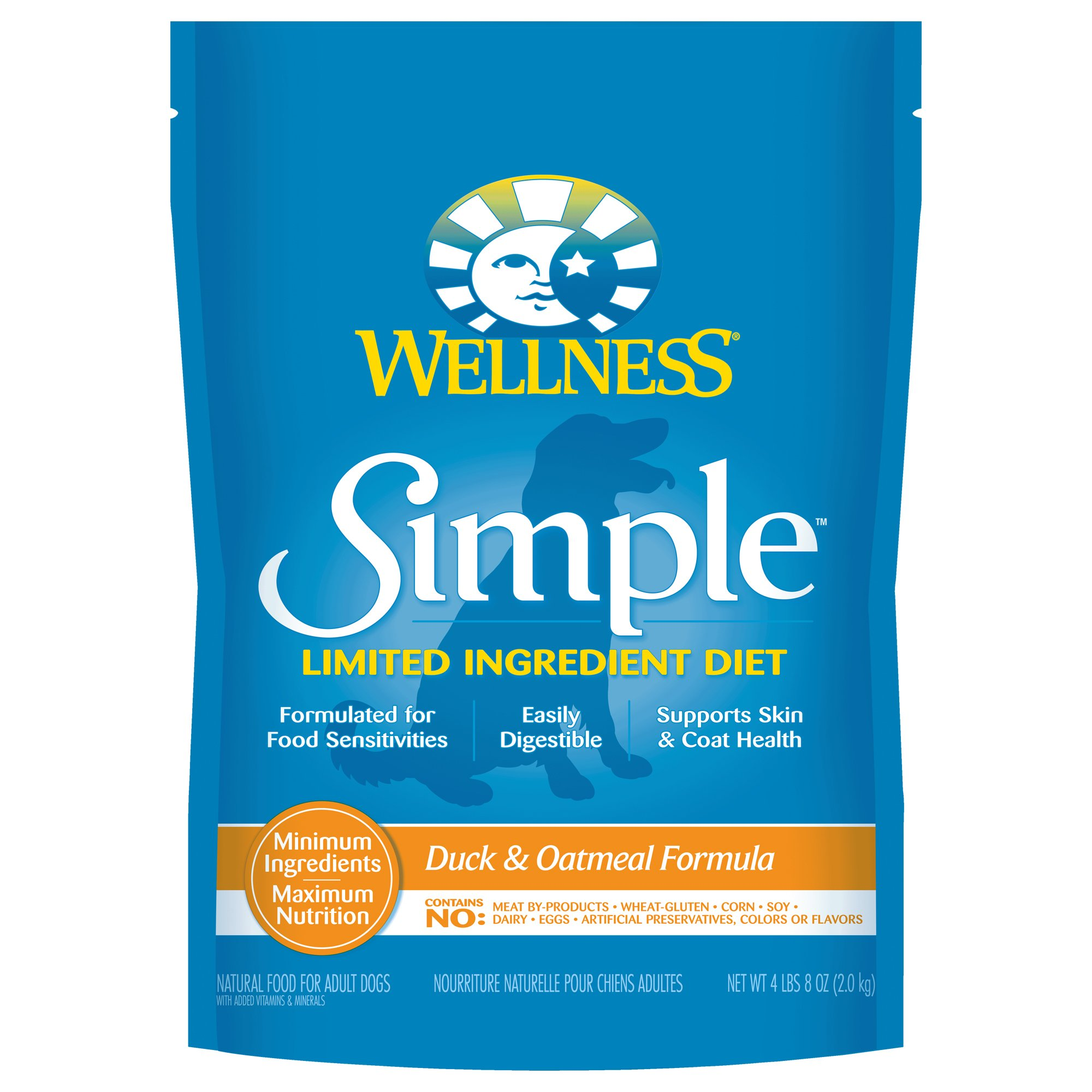 Wellness Simple Limited Ingredient Diet Duck Oatmeal Dry Dog Food
