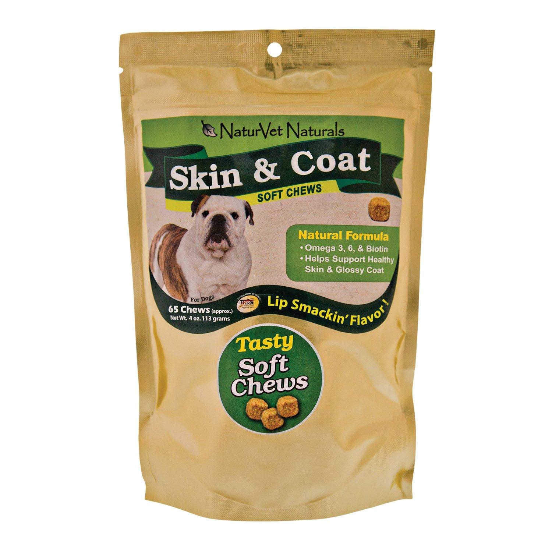 NaturVet Skin & Coat Soft Chews for Dogs