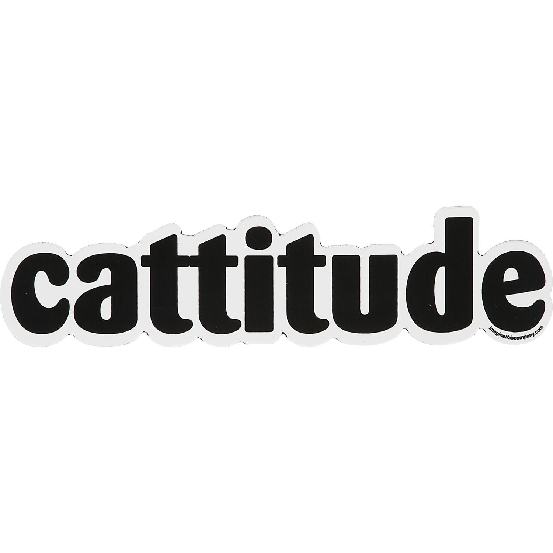 Imagine This Cattitude Car Magnet