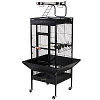 Prevue Hendryx Signature Select Series Wrought Iron Bird Cage in Black