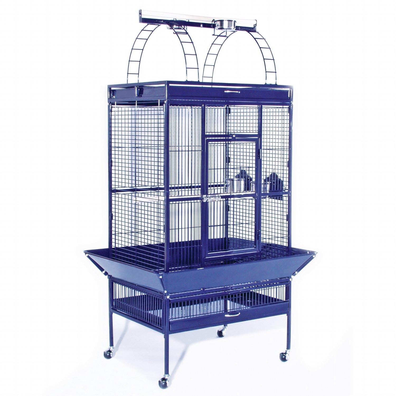 Prevue Hendryx Signature Select Series Wrought Iron Bird Cage in Metallic Cobalt