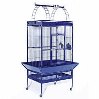 Prevue Hendryx Signature Select Series Wrought Iron Bird Cage in Metallic Cobalt