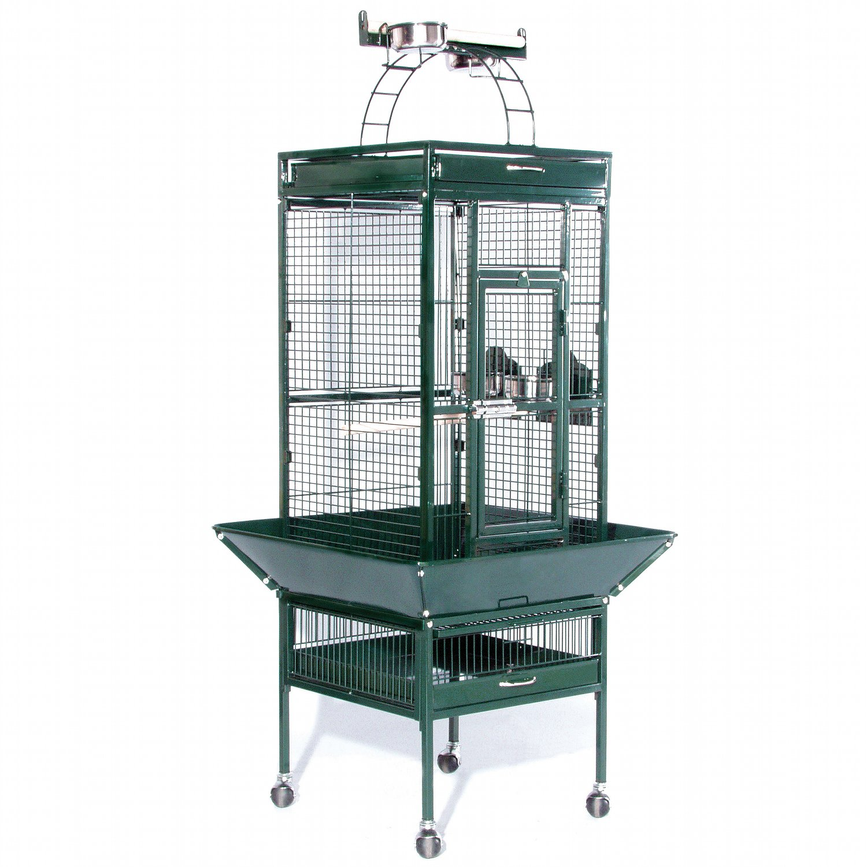 Prevue Hendryx Signature Select Series Wrought Iron Bird Cage in Metallic Jade