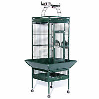 Prevue Hendryx Signature Select Series Wrought Iron Bird Cage in Metallic Jade