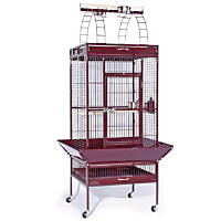 Prevue Hendryx Signature Select Series Wrought Iron Bird Cage in Metallic Garnet Red