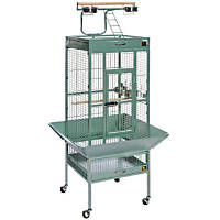 Prevue Hendryx Signature Select Series Wrought Iron Bird Cage in Sage