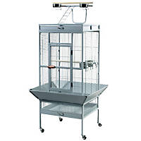 Prevue Hendryx Signature Select Series Wrought Iron Bird Cage in Pewter