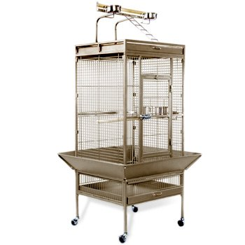 Prevue Hendryx Signature Select Series Wrought Iron Bird Cage in Coco Brown