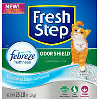 Fresh Step with Febreze Odor Shield Scoopable Clumping Cat Litter