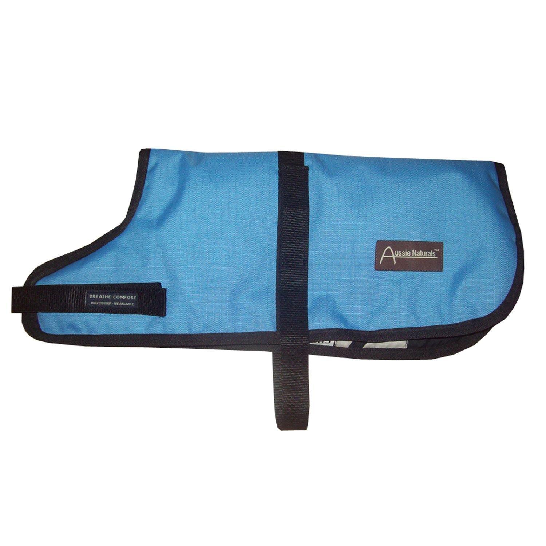 ABO Gear Light Blue Breathable Waterproof Dog Coat