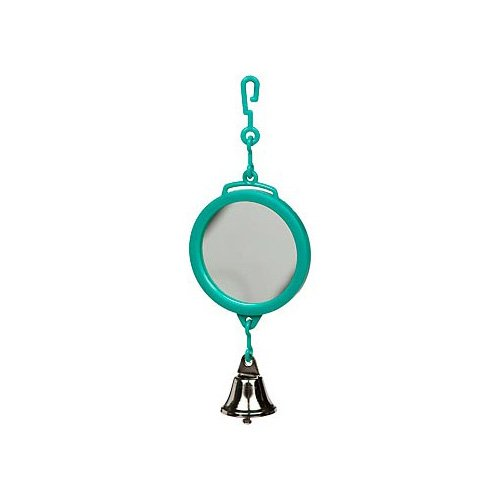 Petco Two-Sided Mirror with Bell Bird Toy