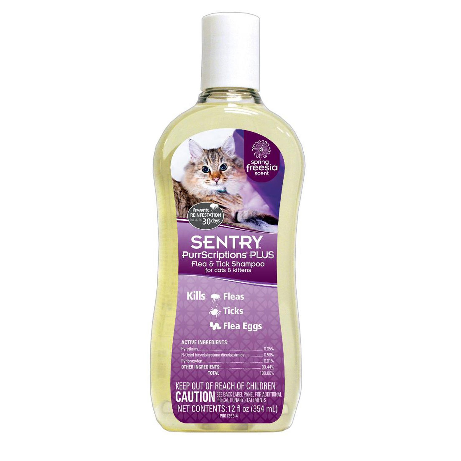 Sentry PurrScriptions Plus Flea & Tick Shampoo for Cats & Kittens