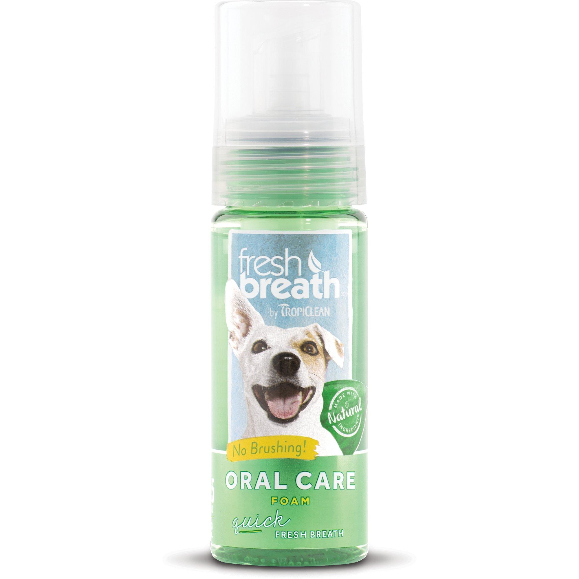 TropiClean Fresh Breath Fresh Mint Foam Dental Wash & Freshener for Pets