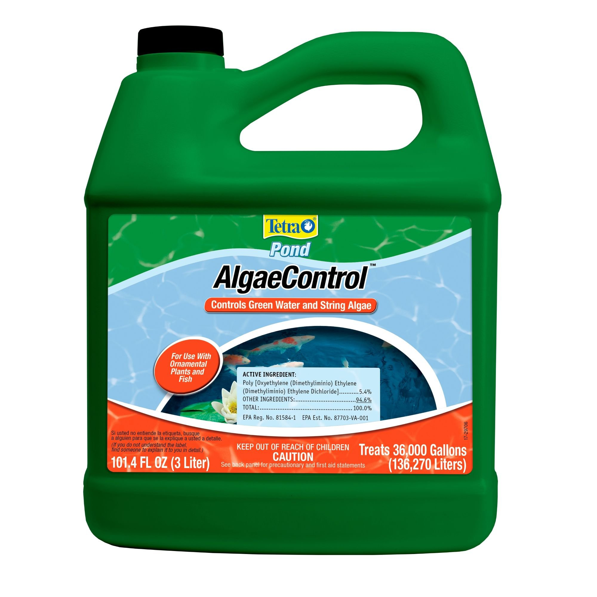 Tetrapond algae control pond algae remover petco for Koi pond removal
