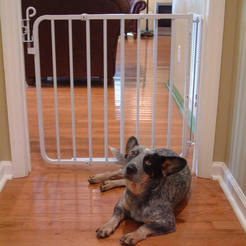 Cardinal Gates White Auto-Lock Pet Gate