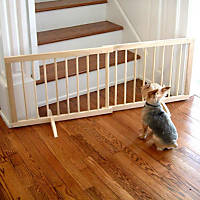 Cardinal Gates Natural Wood Step-Over Pet Gate