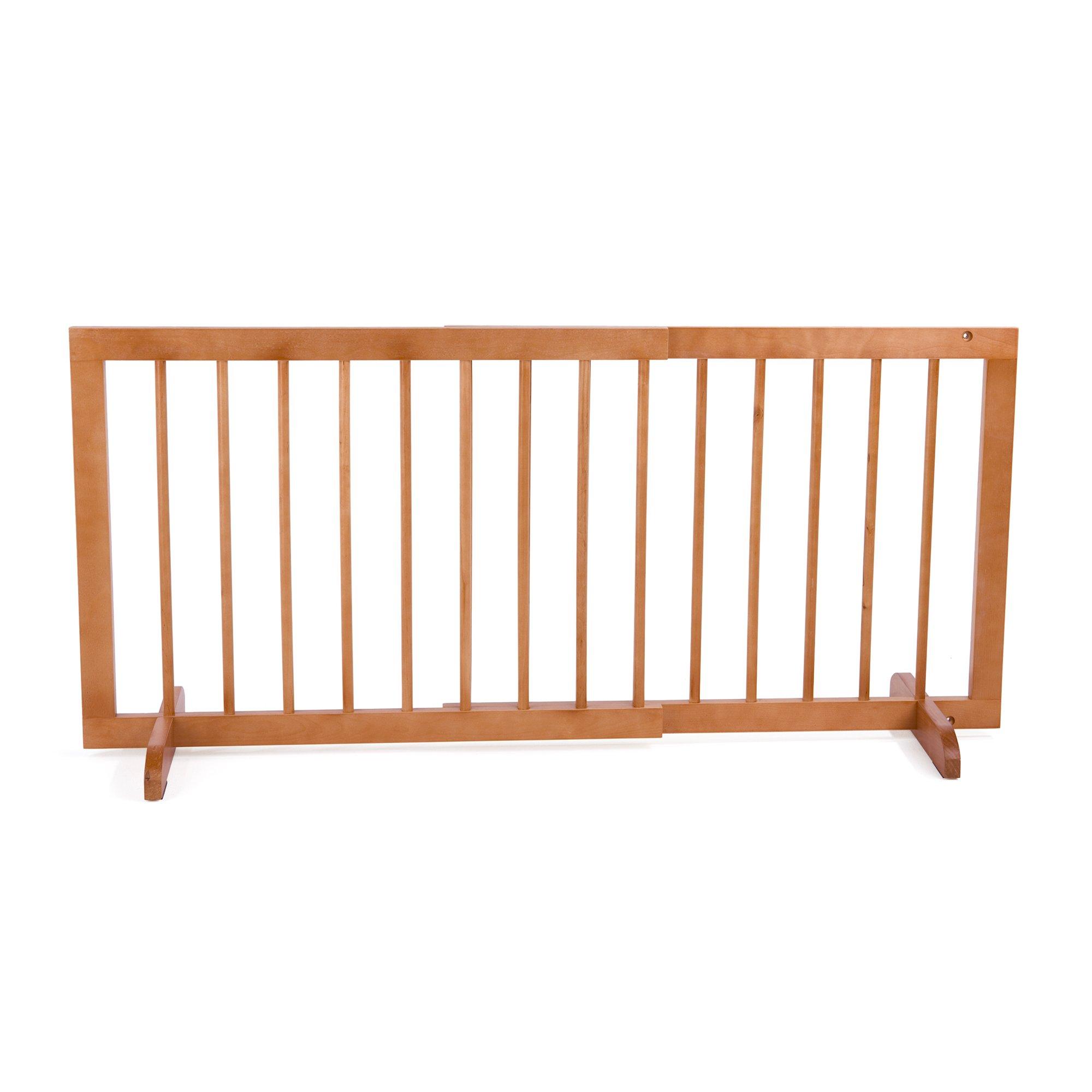 Cardinal Gates Medium Oak Step-Over Pet Gate