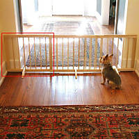 Cardinal Gates Natural Wood Step-Over Pet Gate Extension