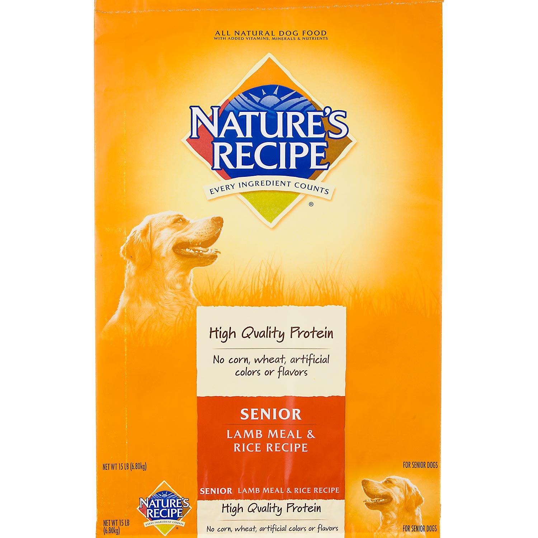 Nature's Recipe Senior Lamb & Rice Formula Dog Food