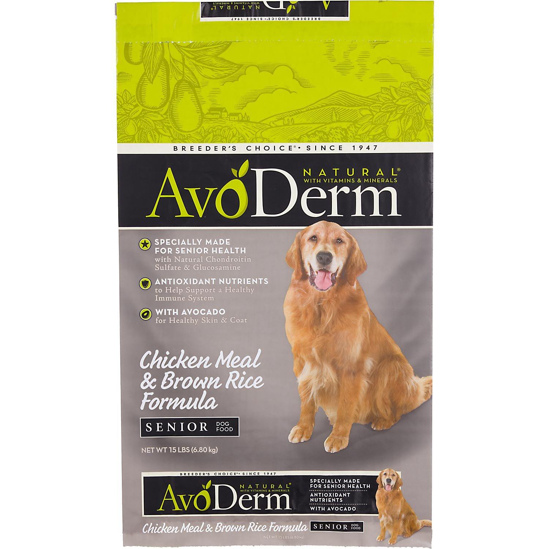 AvoDerm Natural Chicken Meal & Brown Rice Formula Senior Dog Food