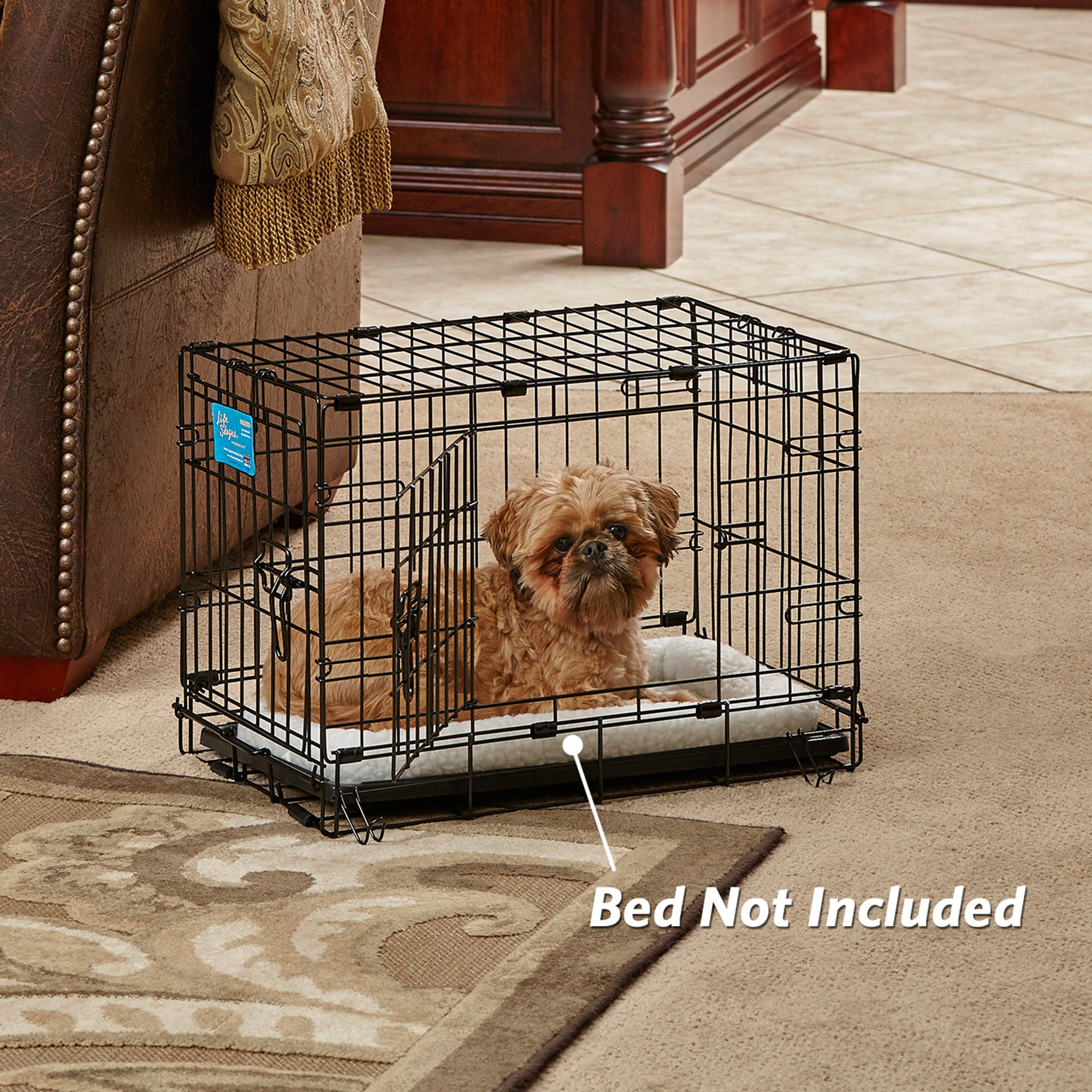 Midwest solution series ginormus double door dog crate for Double door with dog door