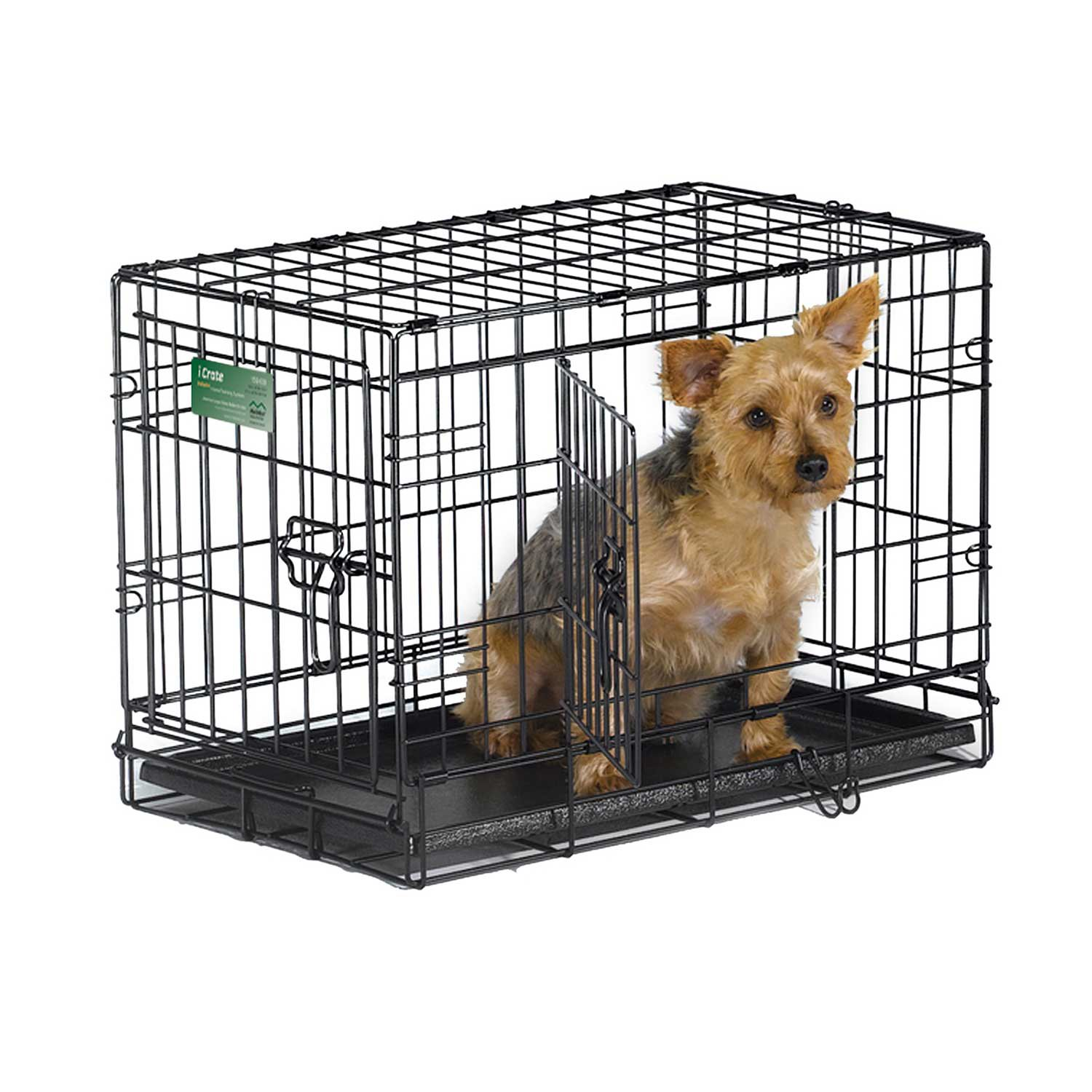 Midwest icrate double door folding dog crates petco for Double door with dog door