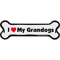 Imagine This I love My Grandogs Bone Shaped Car Magnet