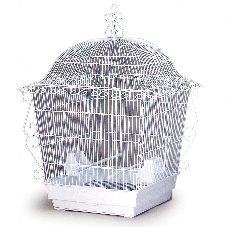 Prevue Hendryx Designer Scrollwork Series Jumbo Tiel Scrollwork Bird Cage in White