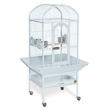 Prevue Hendryx Deluxe Dome Series Wrought Iron Bird Cage in Pewter