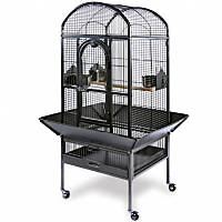 Prevue Hendryx Deluxe Dome Series Wrought Iron Bird Cage in Black