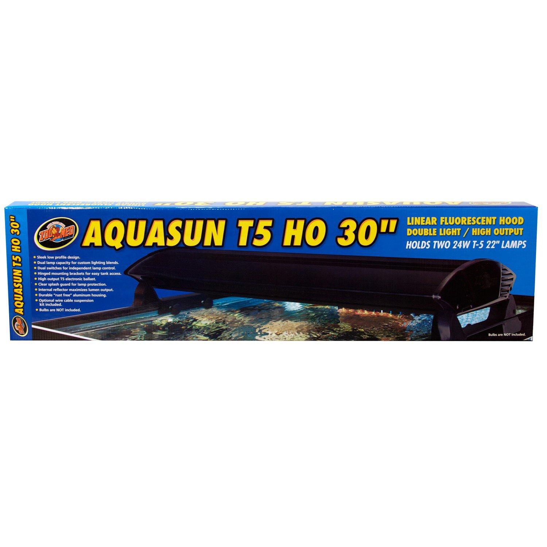 "Zoo Med AquaSun T-5 HO Double Light Linear Fluorescent Hood, 30"" Length"
