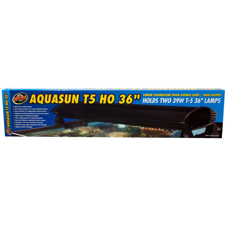 "Zoo Med AquaSun T-5 HO Double Light Linear Fluorescent Hood, 36"" Length"