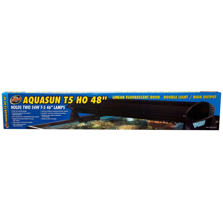 "Zoo Med AquaSun T-5 HO Double Light Linear Fluorescent Hood, 48"" Length"