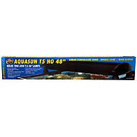Zoo Med AquaSun T-5 HO Double Light Linear Fluorescent Hood, 48' Length