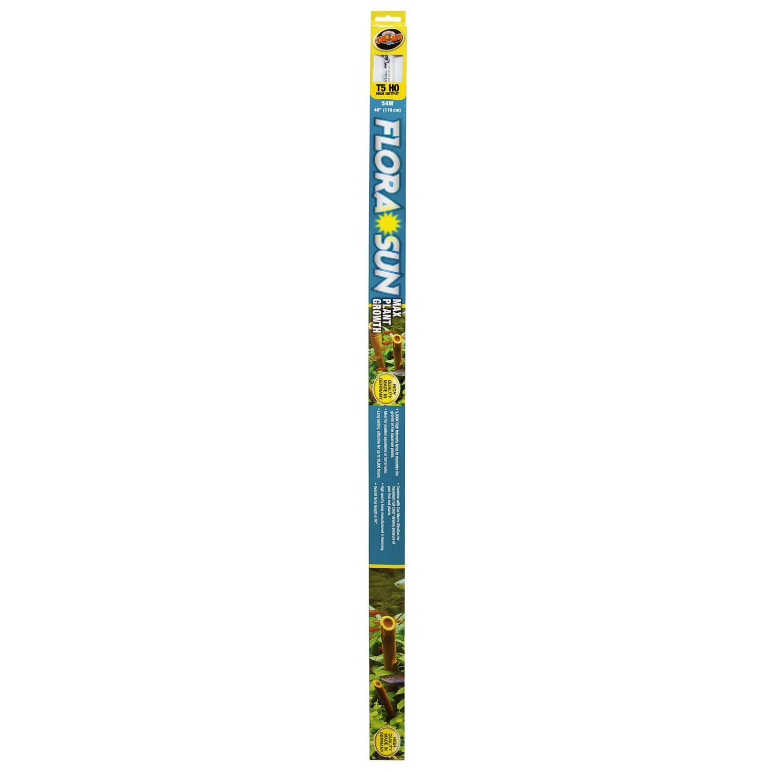Zoo Med T-5 HO Flora Sun Max Plant Growth Fluorescent Bulb
