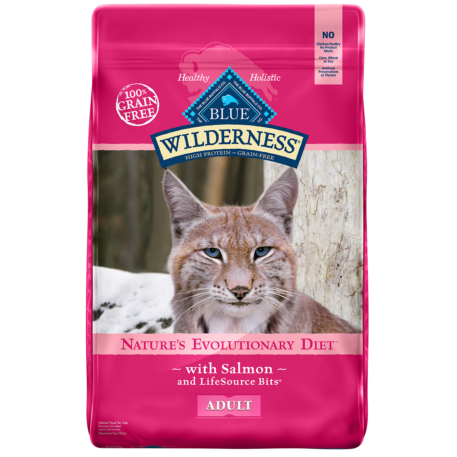 Blue Buffalo Wilderness Salmon Adult Dry Cat Food, 11 lbs.