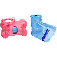Bags on Board Pink Bone Dog Waste Pick Up Dispenser & Refill Waste Bags