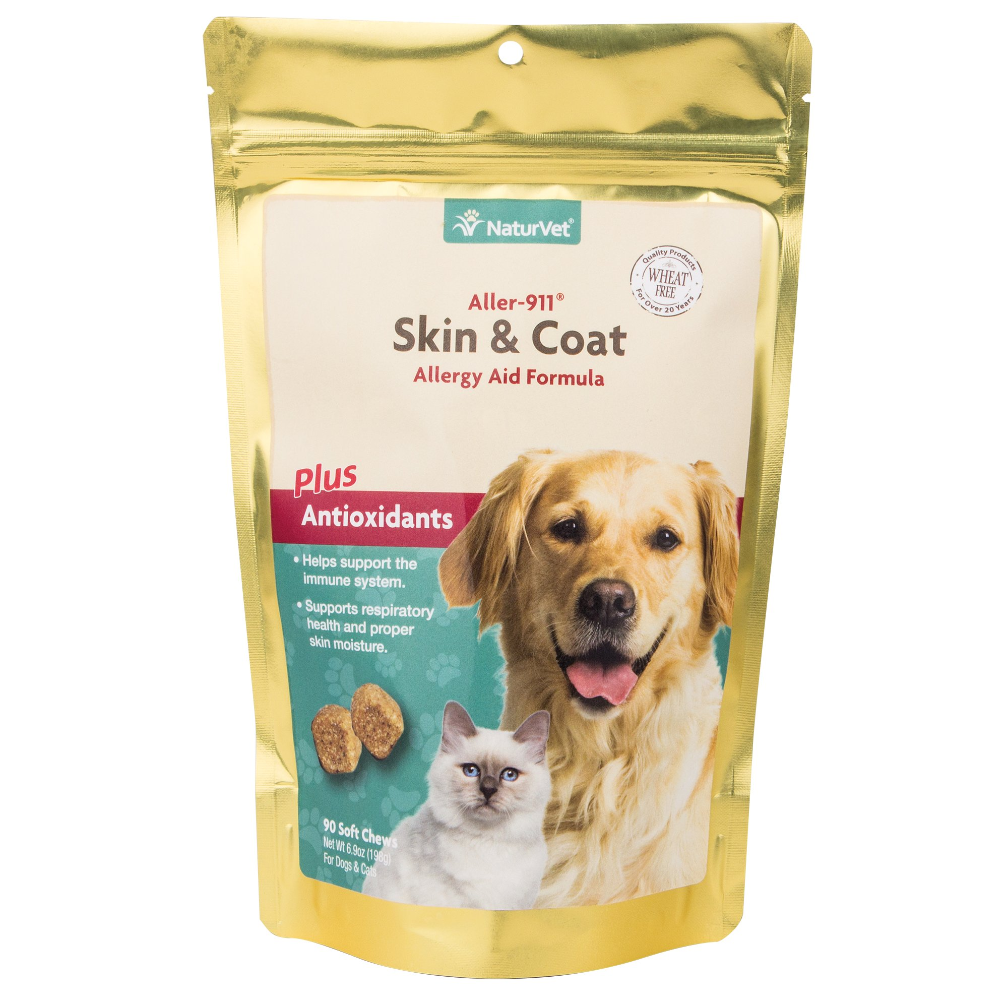 NaturVet Naturals Dog & Cat Allergy Aid Soft Chews