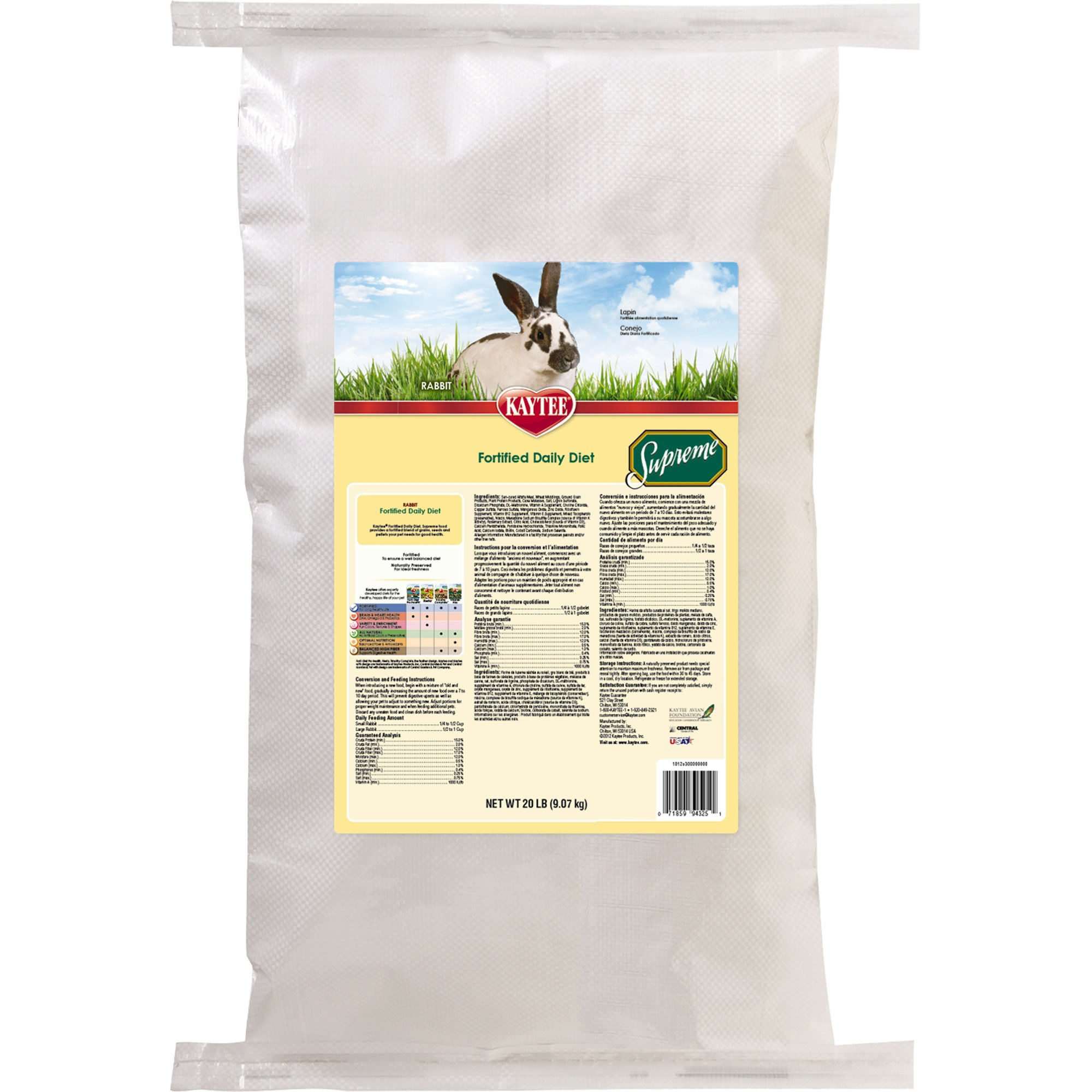 Kaytee Supreme Daily Blend Rabbit Pellets