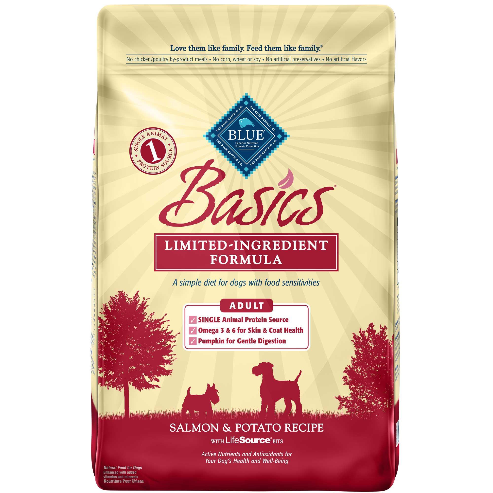Blue Buffalo Basics Limited Ingredient Formula Salmon & Potato Adult Dry Dog Food